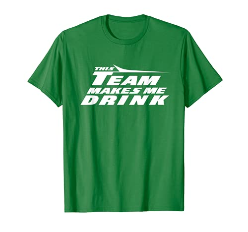 Funny Jets This Team Makes Me Drink New York Football V2 T-Shirt