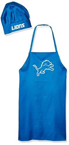 PSG, NFL Detroit Lions Apron and Chef Hat SetApron and Chef Hat Set, Team Colors, One Size