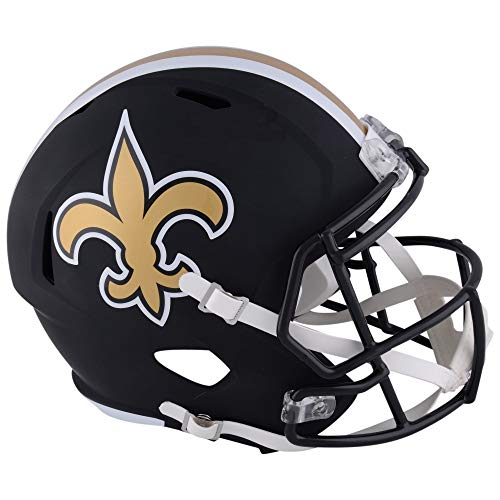 New Orleans Saints NFL Black Matte Alternate Speed Mini Football Helmet