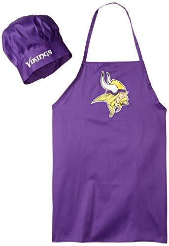 NFL Minnesota Vikings Chef Hat and Apron Set, Purple,