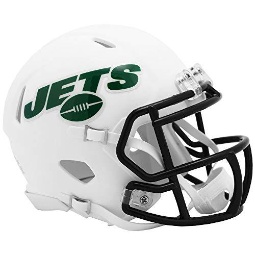 Riddell New York Jets White Flat Matte Alternate Speed Mini Football Helmet