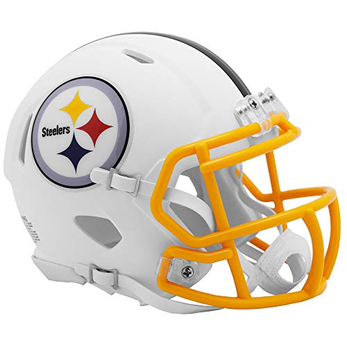 Riddell Pittsburgh Steelers White Flat Matte Alternate Speed Mini Football Helmet