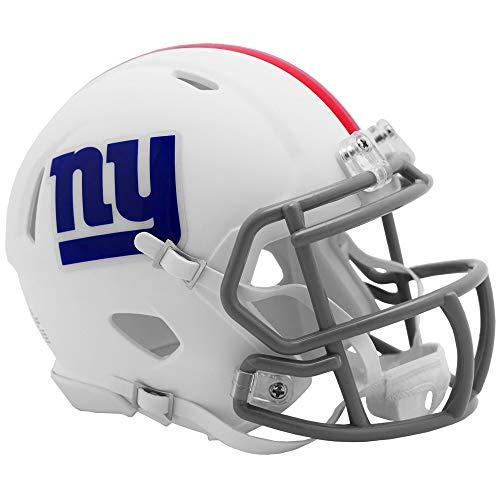 Riddell New York Giants White Flat Matte Alternate Speed Mini Football Helmet
