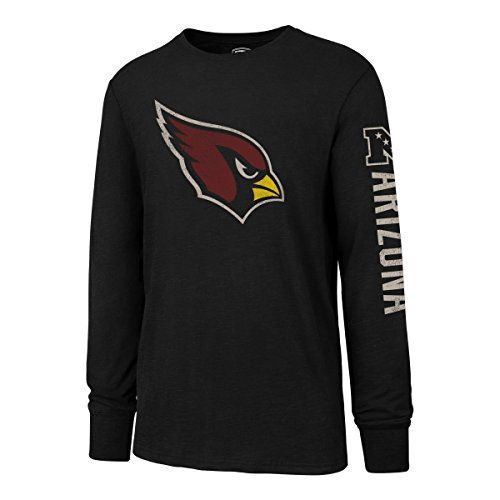 OTS NFL Arizona Cardinals Men's Slub Long Sleeve Team Name Tee, Distressed Sinclair, X-Large