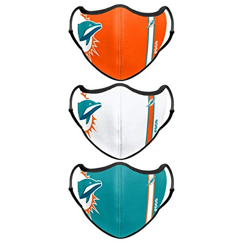 Miami Dolphins NFL Sport 3 Pack Face Cover