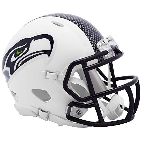 Riddell Seattle Seahawks White Flat Matte Alternate Speed Mini Football Helmet