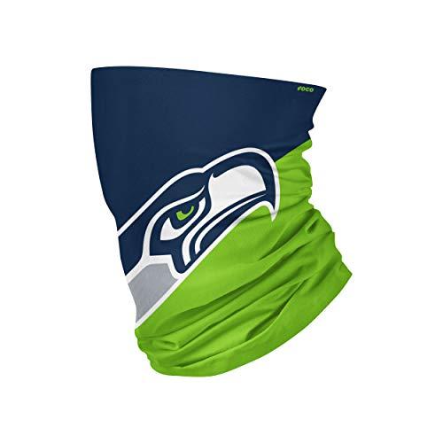 FOCO Seattle Seahawks NFL Big Logo Gaiter Scarf