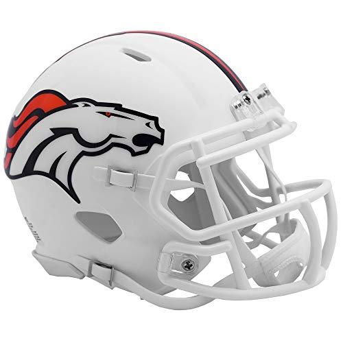 Riddell Denver Broncos White Flat Matte Alternate Speed Mini Football Helmet