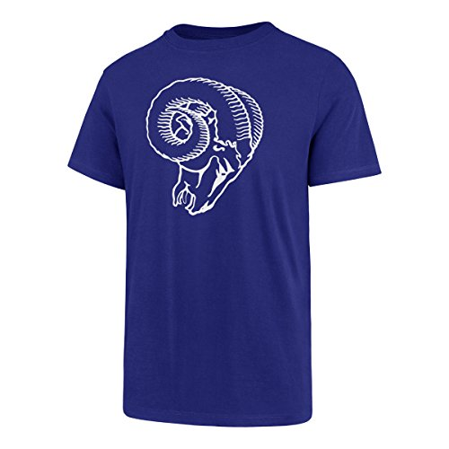 OTS NFL Los Angeles Rams Men's Rival Tee, Team Color Legacy Logo, Small