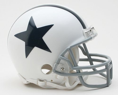 Cowboys White Throwback Thanksgiving Day Riddell Mini Football Helmet - New in Riddell Box