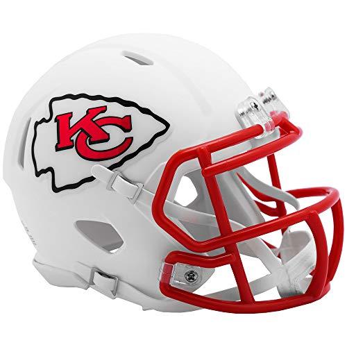 Riddell Kansas City Chiefs White Flat Matte Alternate Speed Mini Football Helmet