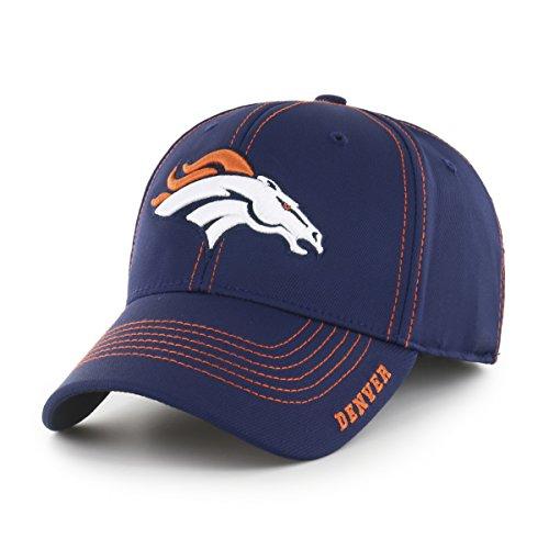 OTS NFL Denver Broncos Men's Start Line Center Stretch Fit Hat, Team Color, Medium/Large