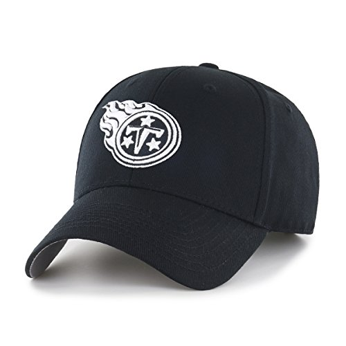 OTS NFL Tennessee Titans Men's All-Star Adjustable Hat, Black And White, One Size