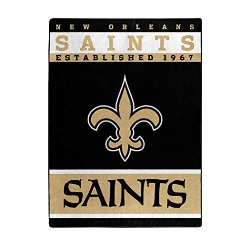 The Northwest Company Officially LicensedNFL New Orleans Saints '12th Man' Plush Raschel Throw Blanket, 60' x 80', Multi Color