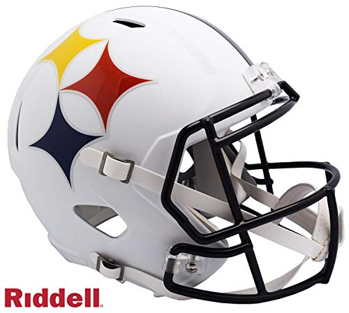 Pittsburgh Steelers AMP Alternate Series Riddell Speed Full Size Replica Football Helmet - NFL Replica Helmets