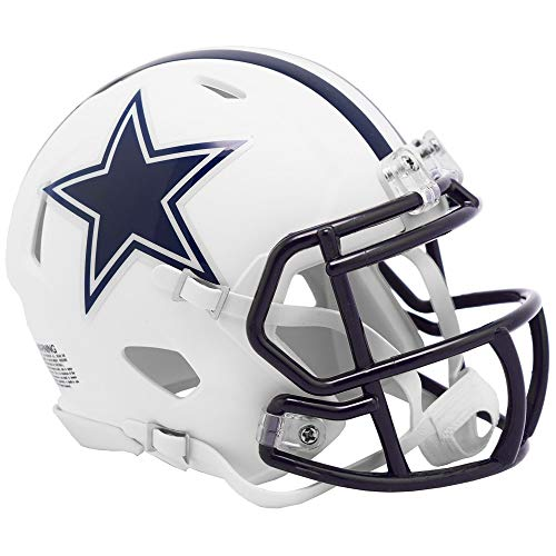 Riddell Dallas Cowboys White Flat Matte Alternate Speed Mini Football Helmet