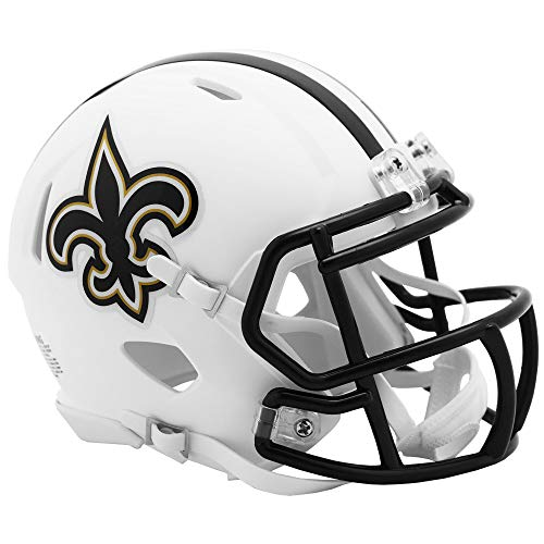 New Orleans Saints NFL Flat Matte White Alternate Speed Mini Football Helmet