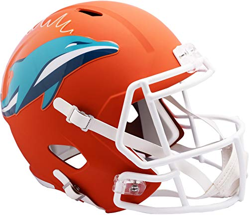 Riddell Miami Dolphins AMP Alternate Revolution Speed Replica Football Helmet - NFL Replica Helmets