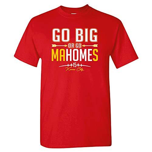 Xtreme Apparrel Kansas City Go Big or Go MaHomes Football Fans Mens T-Shirt (M) Red