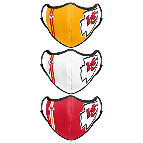 Kansas City Chiefs NFL Sport 3 Pack Face Cover