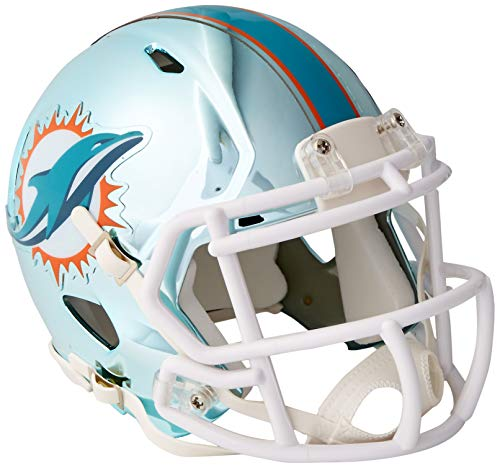 Riddell Chrome Alternate NFL Speed Authentic Mini Size Helmet Miami Dolphins