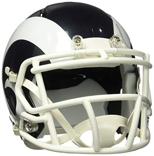 NFL Los Angeles Rams Speed Mini Replica Helmet, White, Medium