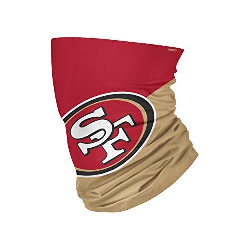 FOCO San Francisco 49ers NFL Big Logo Gaiter Scarf