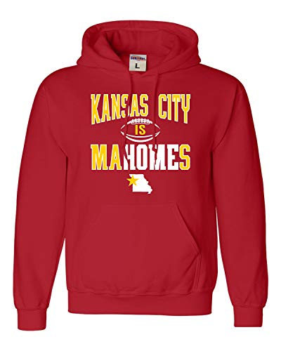 Go All Out Large Red Adult Kansas City Is Mahomes Sweatshirt Hoodie