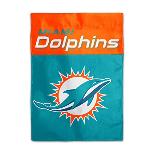 NFL Miami Dolphins 2-Sided Home/Yard Flag (13' x 18'), Teal,
