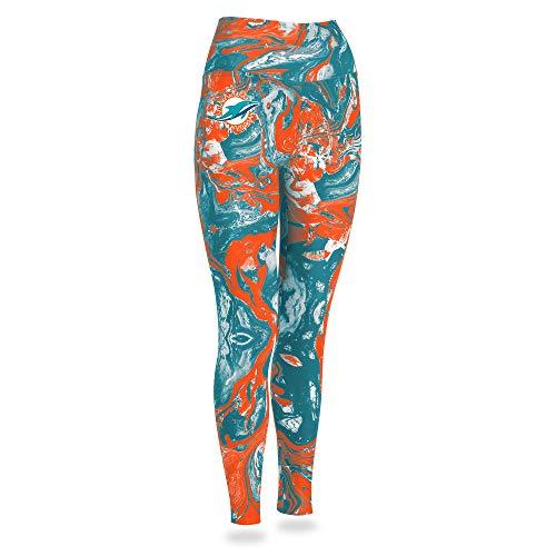 Zubaz NFL Miami Dolphins Women's Swirl Leggings, Multicolor, Small