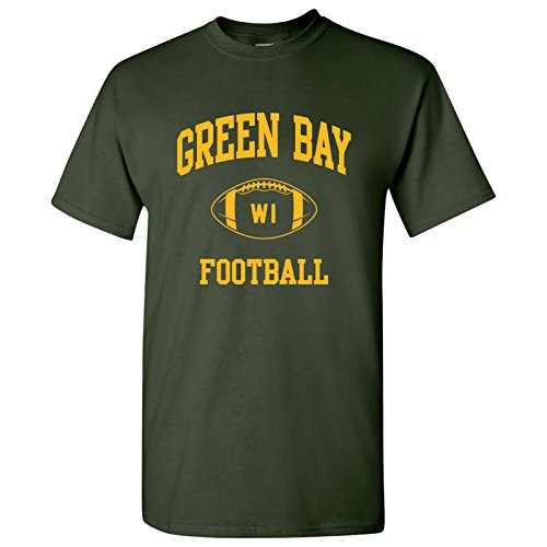 Green Bay Classic Football Arch Basic Cotton T-Shirt - Large - Forest