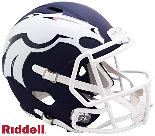 Denver Broncos AMP Alternate Series Riddell Speed Full Size Replica Football Helmet - NFL Replica Helmets