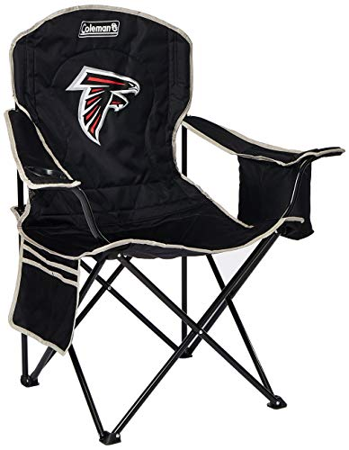 Coleman NFL Cooler Quad Folding Tailgating & Camping Chair with Built in Cooler and Carrying Case, Atlanta Falcons