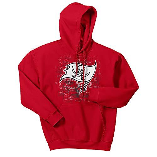 NFL Tampa Bay Buccaneers Men's Digital Logo Hoodie, Red, Large
