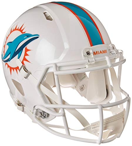 Riddell NFL Miami Dolphins Authentic Full Size Speed Style Helmet, Team Colors, One Size