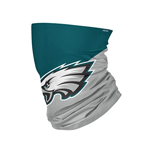 FOCO Philadelphia Eagles NFL Big Logo Gaiter Scarf