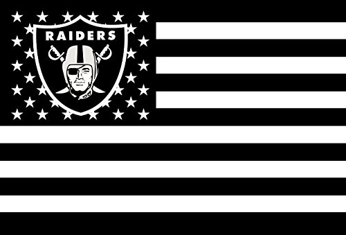 NFL Oakland Raiders Stars and Stripes Flag Banner   3x5 FT, White