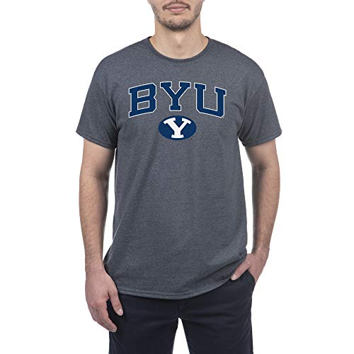 Elite Fan Shop Byu Cougars Men's Short Sleeve Shirt, Navy, X-Large
