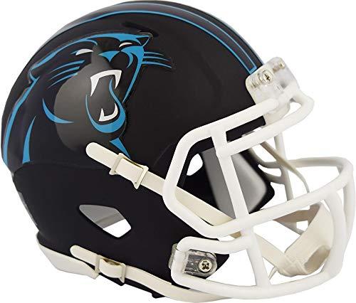 Carolina Panthers NFL Black Matte Alternate Speed Mini Football Helmet