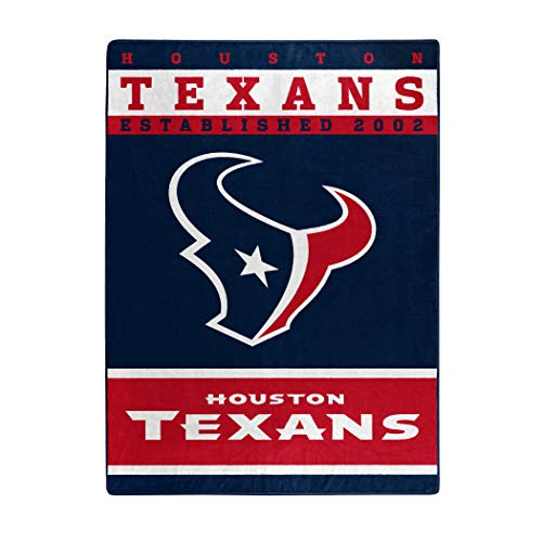 The Northwest Company Officially LicensedNFL Houston Texans '12th Man' Plush Raschel Throw Blanket, 60' x 80', Multi Color
