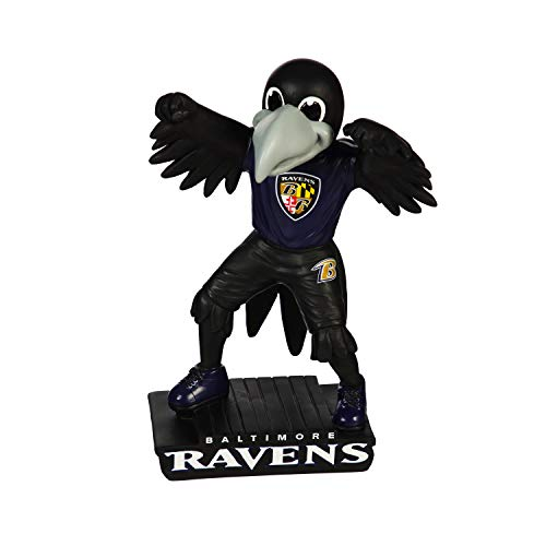Team Sports America NFL Baltimore Ravens Fun Colorful Mascot Statue 12 Inches Tall