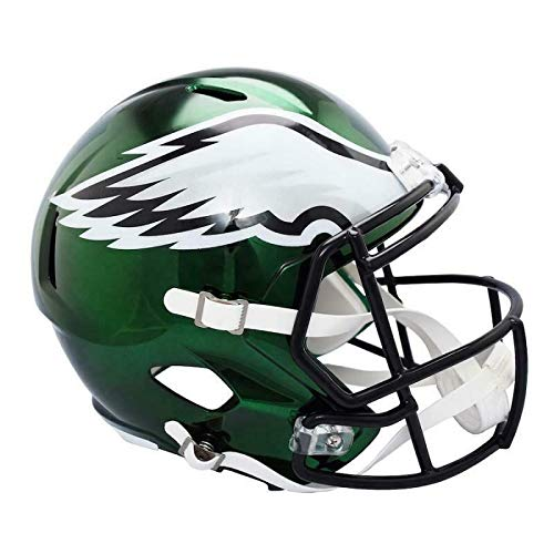 Philadelphia Eagles Riddell Chrome Alternate Full Size Speed Replica Helmet Unsigned