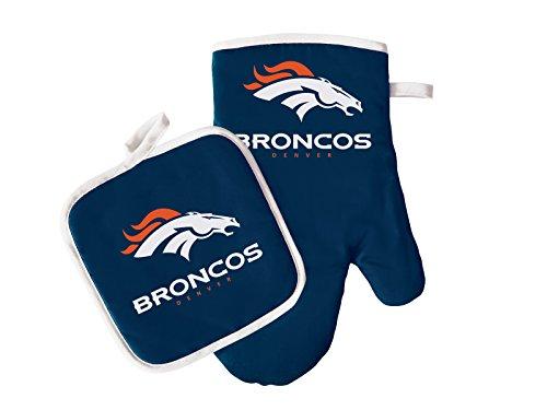 Pro Specialties Group NFL Denver Broncos Oven Mitt and Pot Holder Set