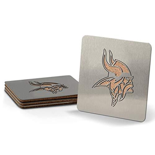 NFL Minnesota Vikings Boaster Stainless Steel Coaster Set of 4