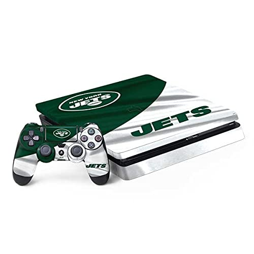 Skinit Decal Gaming Skin Compatible with PS4 Slim Bundle - Officially Licensed NFL New York Jets Design