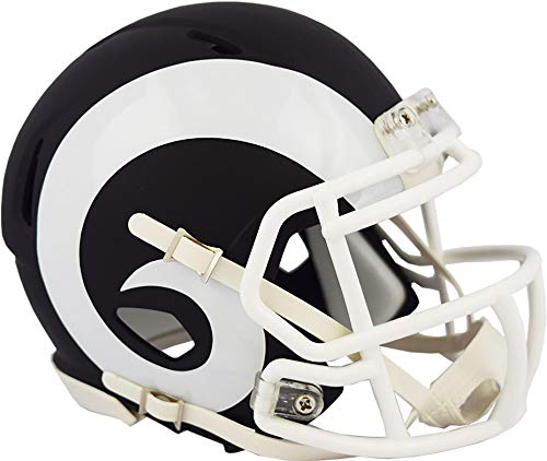 Riddell Los Angeles Rams Black Matte Alternate Speed Mini Football Helmet - NFL Mini Helmets