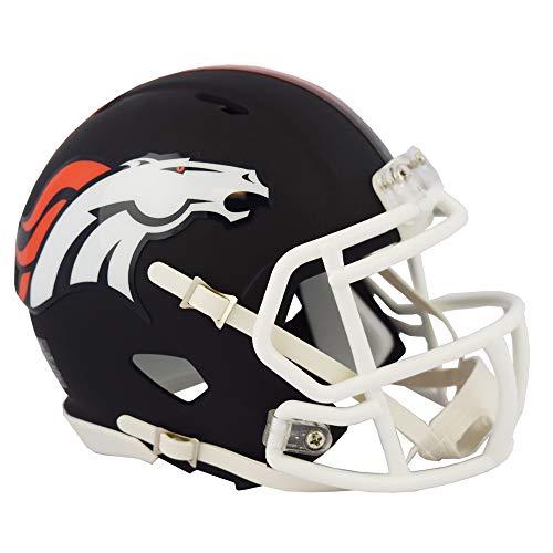 Denver Broncos NFL Black Matte Alternate Speed Mini Football Helmet