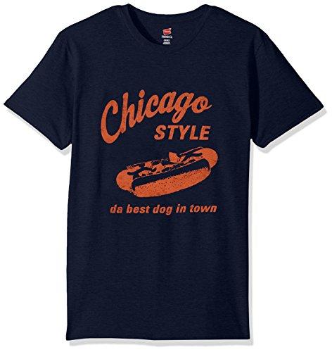 Hanes Men's Graphic Tee-Humor, Navy/Chicago, X Large