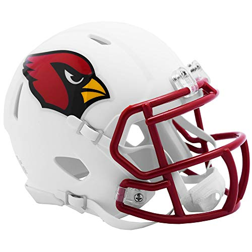 Riddell Arizona Cardinals White Flat Matte Alternate Speed Mini Football Helmet