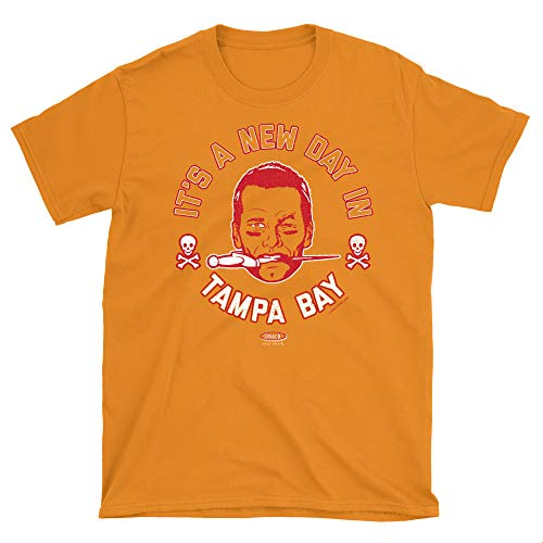 Tampa Bay Football Fans. It's a New Day in Tampa Bay Creamsicle T-Shirt (Sm-5X) (Short Sleeve, 2XL)